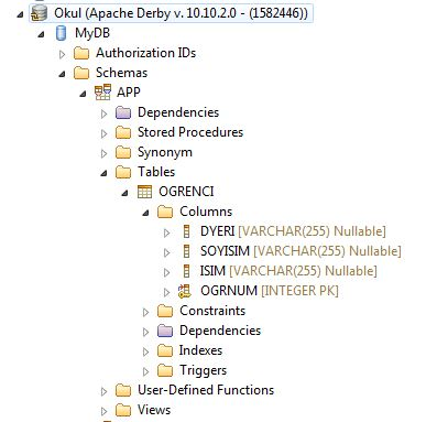 java derby database