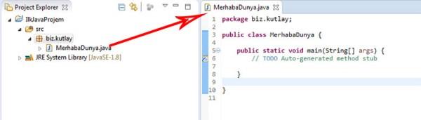Java Class Oluşturma
