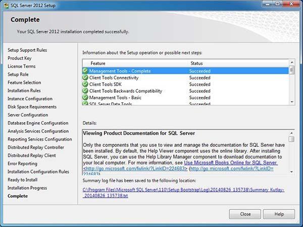 sql server 2012 son adım