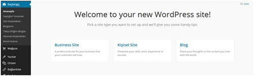 wordpress başlangıç