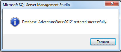 database restore completed
