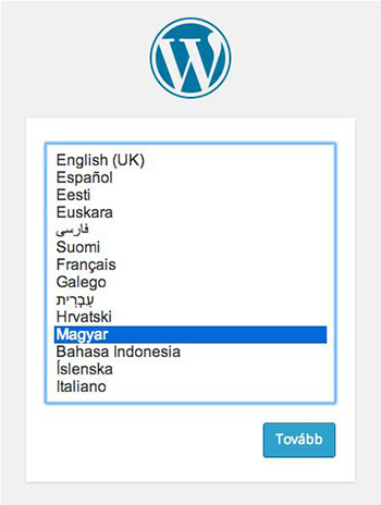 wordpress yükleme dili