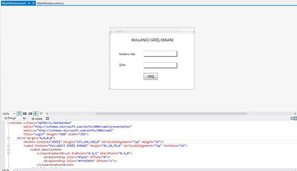 wpf kullanıcı giriş formu