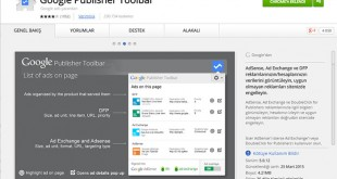 google publisher toolbar eklentisi