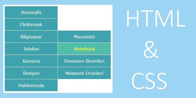 HTMLde açılır liste nasıl yapılır